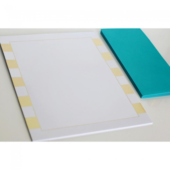 Stripes Foiled Stationery -40% PROMO