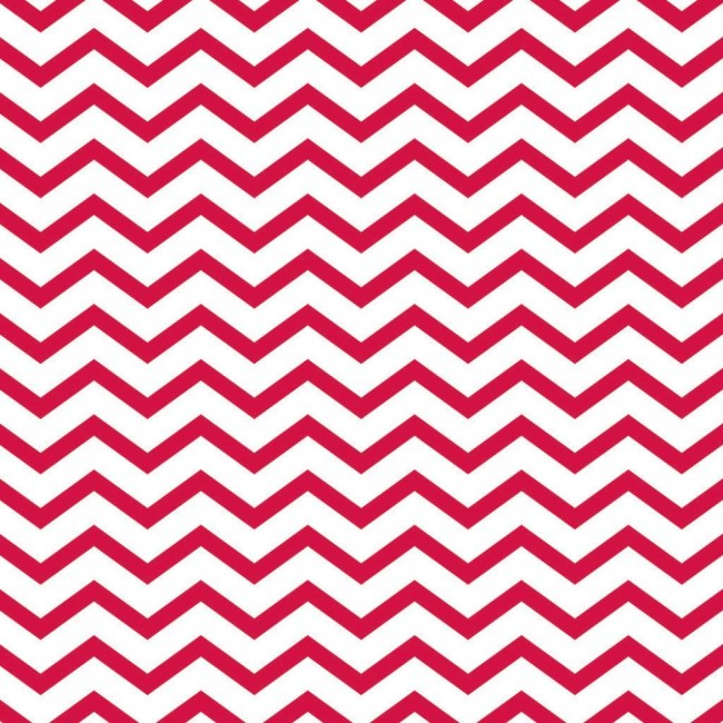 Papier Imprimé Recto 12x12 - Basics - Red Chevron/Holographic