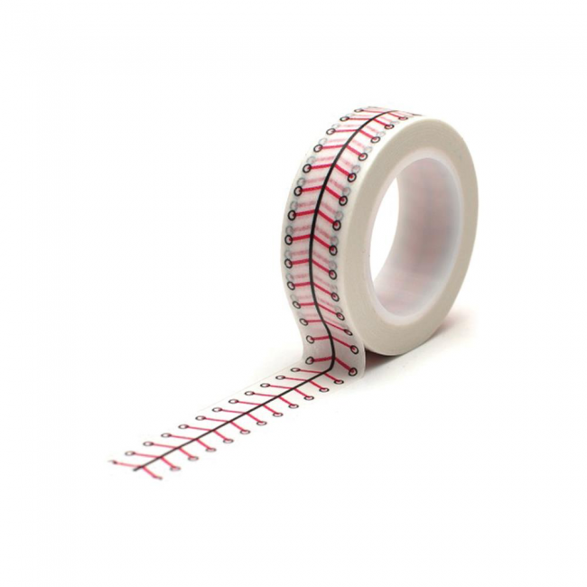 Washi Tape Baseball Lacing