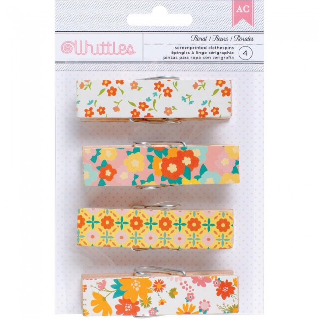 Whittles Clothespins Floral