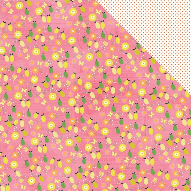 Papier Imprimé Recto-Verso 12x12 - Citrus Bliss - Fresh