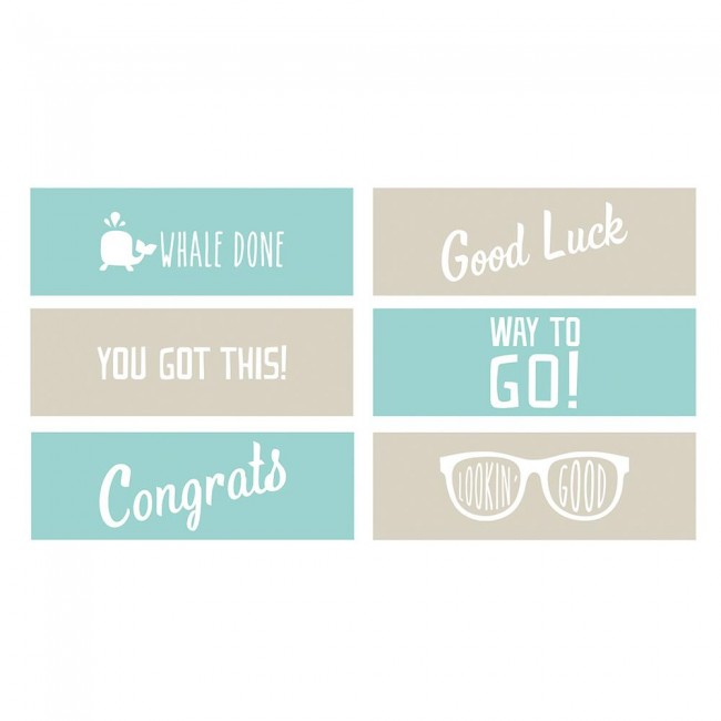 Matrice de Gaufrage Encouragement Phrase Strips