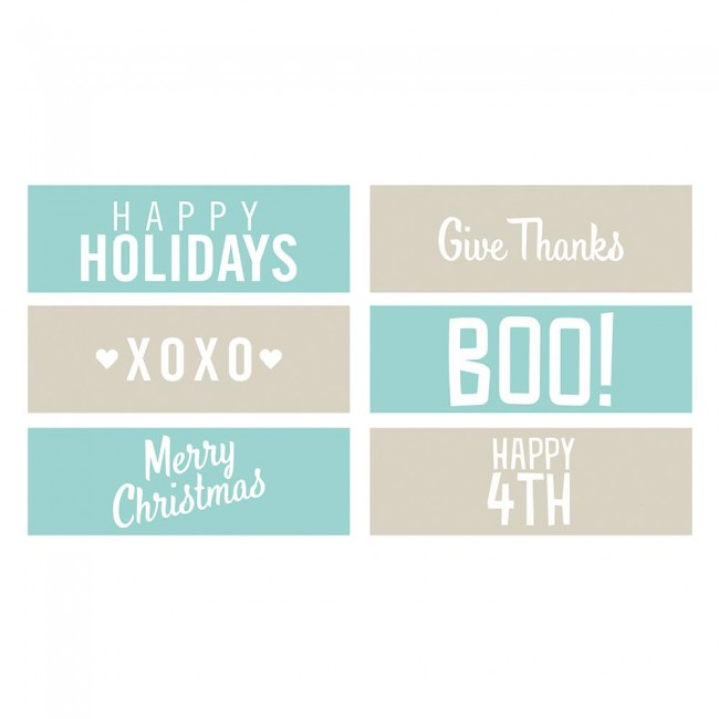 Matrice de Gaufrage Holiday Phrase Strips