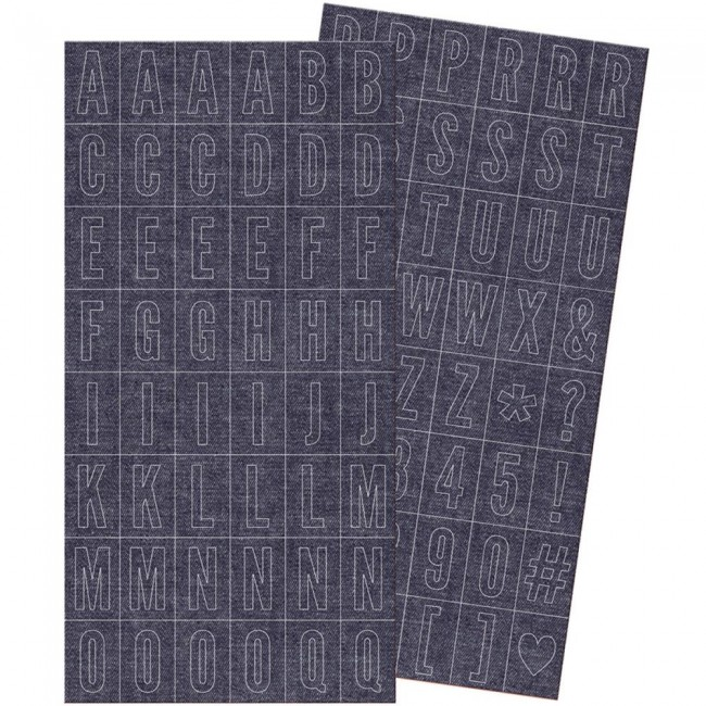 Autocollants Alphabets Denim Blues Alchablock Stickers -20% PROMO