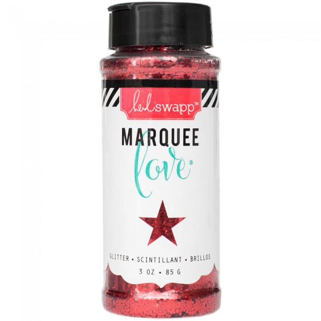 Marquee Chunky Glitter Red