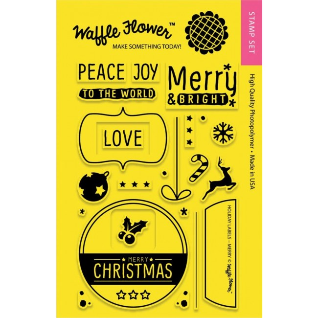 Tampon Acrylique Holiday Labels Merry