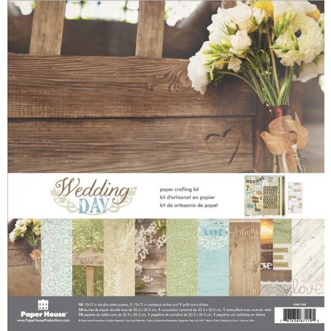 Kit Papiers Imprimés 12x12 Wedding Day