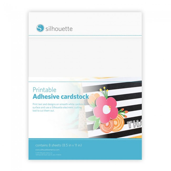 White Printable Adhesive Cardstock