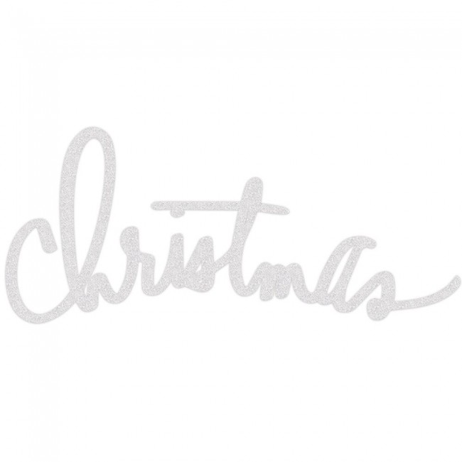 White Glitter Christmas Wall Art Oh What Fun