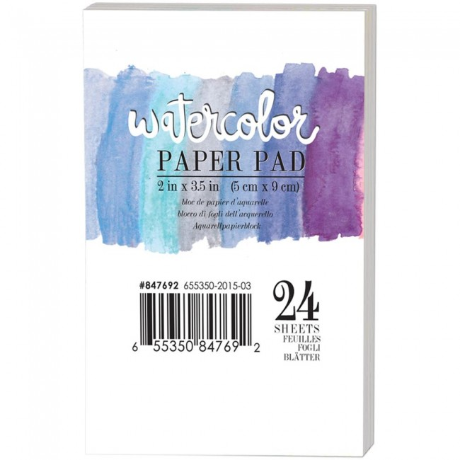 Stack Papier Pour aquarelles 2x3,5 Watercolor
