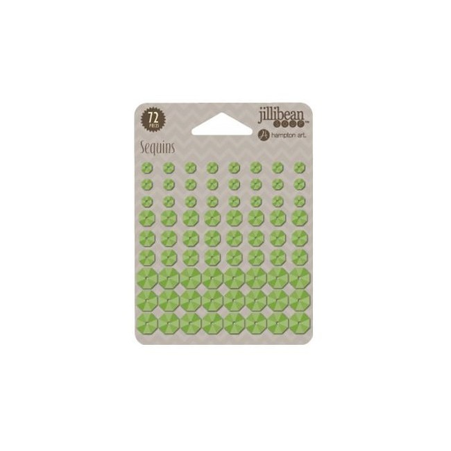 Green Apple Adhesive Sequins