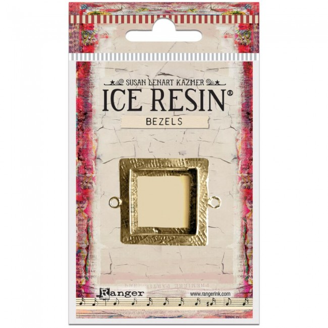 Antique Bronze Medium Square Bezels Ice Resin