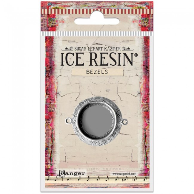 Antique Silver Medium Circle Bezels Ice Resin