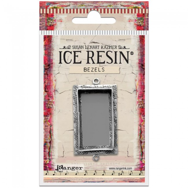 Antique Silver Large Rectangle Bezels Ice Resin