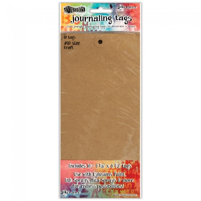 #10 Kraft Dylusions Journal Tags