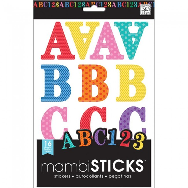 Autocollants Alphabets Large Alphabet And Number Stickers Primary Dots Caps