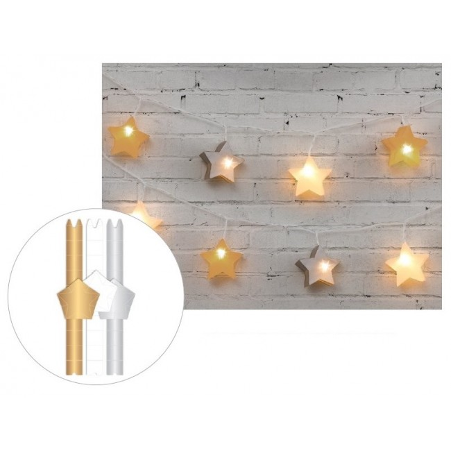 Metallic 3D Star Lanterns Die Cut Diy Party