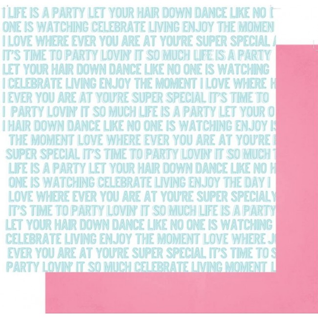 Papier Imprimé Recto-Verso 12x12 - Joy Parade - Life Is A Party