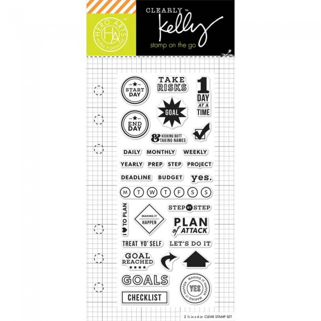 Tampon Acrylique Kelly Purkey Goal Planner