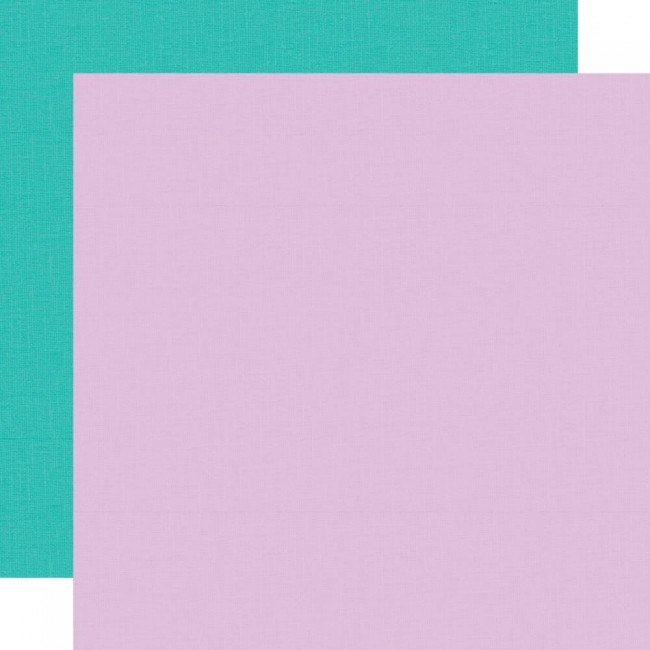 Papier Imprimé Recto-verso 12x12 Little Princess Teal Lavender Simple Basic
