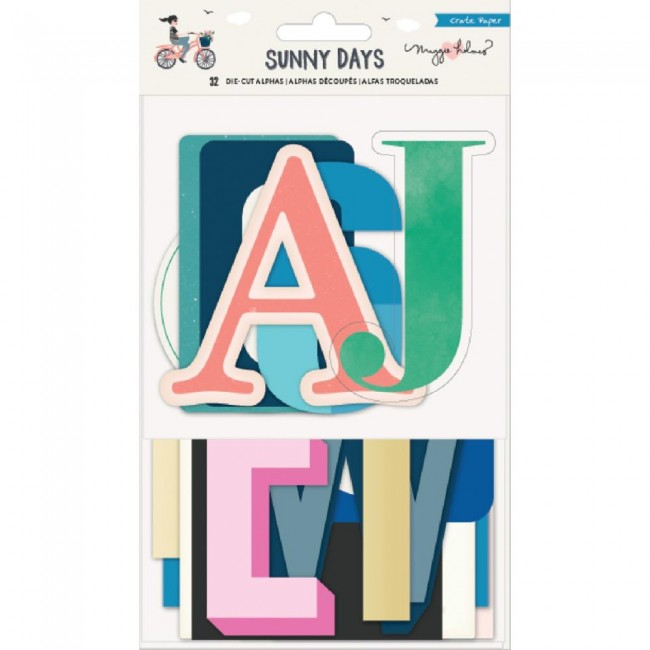 Die Cuts Sunny Days Alphas