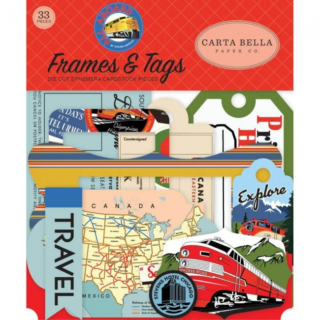 Die Cuts All Aboard Frames & Tags