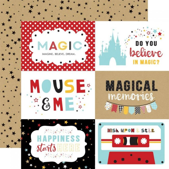 "Papier Imprimé Recto-verso 12x12 Magical Adventure 2 6""X4"" Journaling Cards"