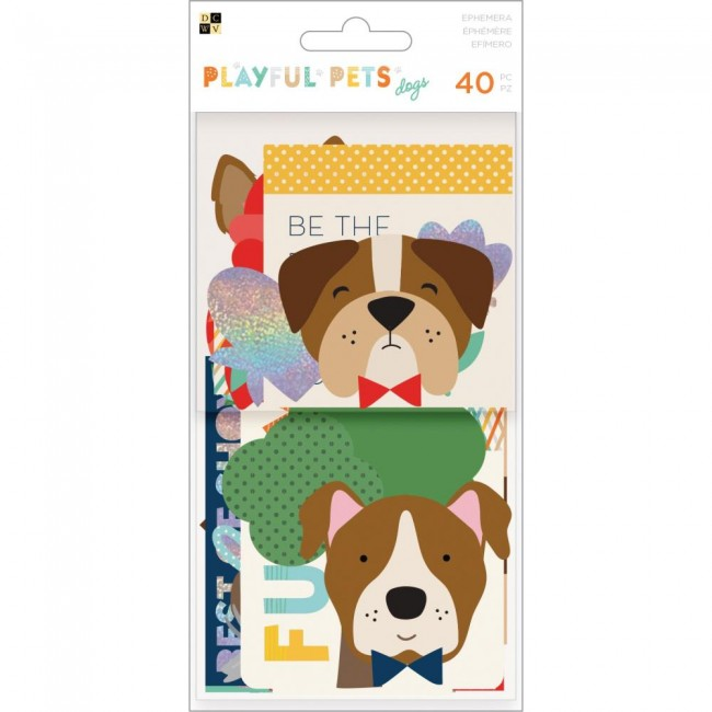 Die Cuts Playful Pets Ephemera - Dogs