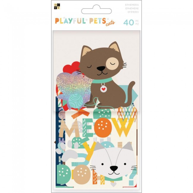 Die Cuts Playful Pets Ephemera - Cats