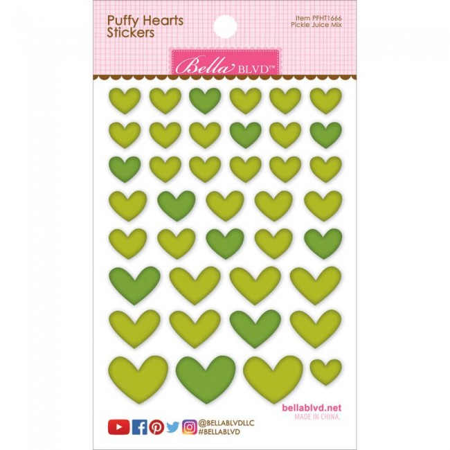 Autocollants Puffy Hearts - Pickle Juice Mix