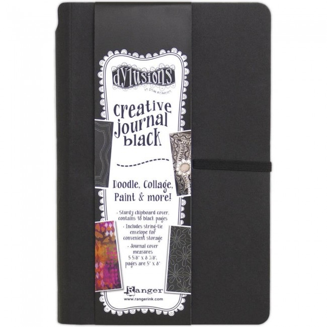 Cahier Mixed Media Black Journal Dyan Reaveley's