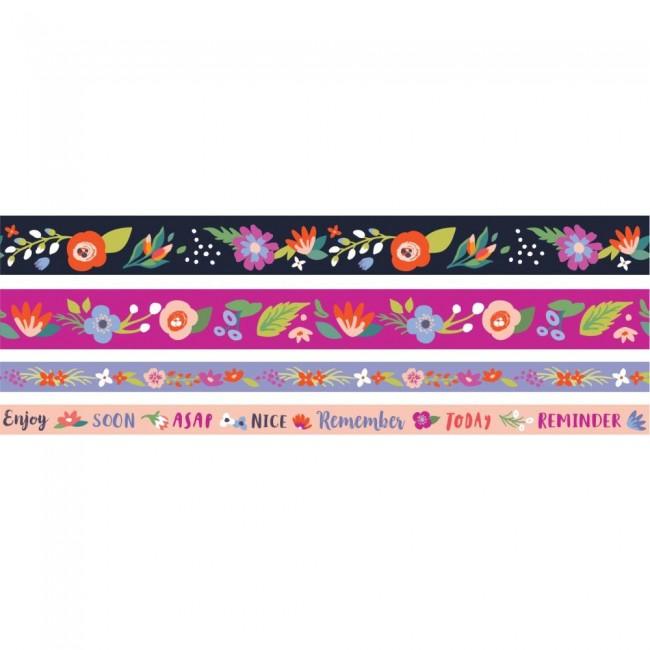 Lot de Washi Tape Dark Floral
