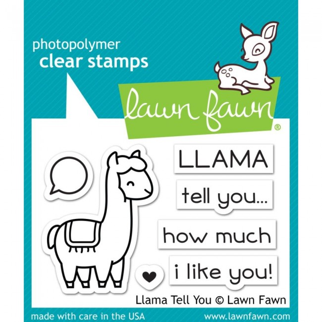 Tampon Acrylique 2x3 Llama Tell You