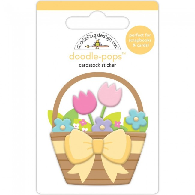 Autocollants 3D Hoppy Easter Flower Basket