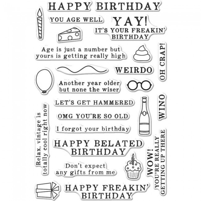 Tampon Acrylique Irreverent Birthday Messages