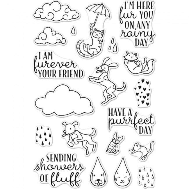 Tampon Acrylique Raining Cats & Dogs