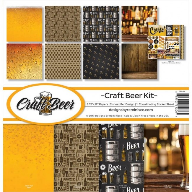 Kit Papiers Imprimés 12x12 Craft Beer
