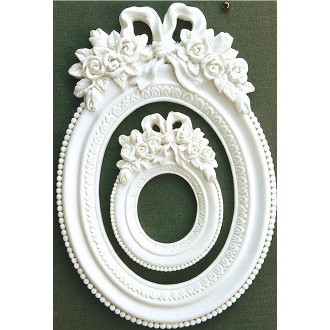 Cadre Memory Hardware - Blanc Fleur Oval