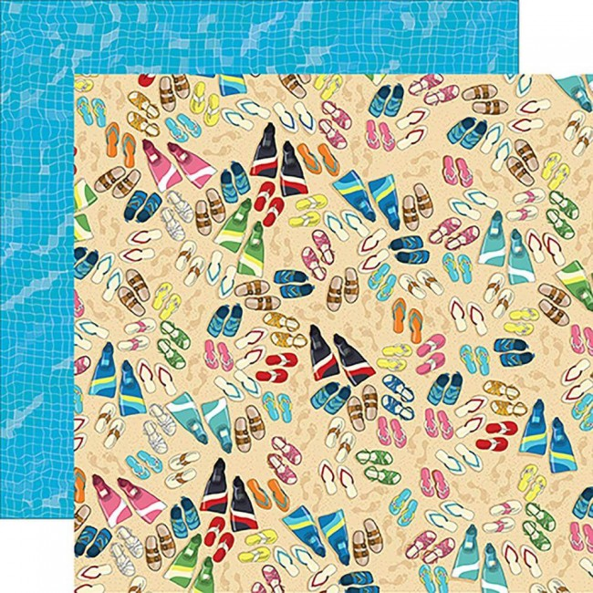 Papier Imprimé Recto-verso Summer Splash Toes In The Sand