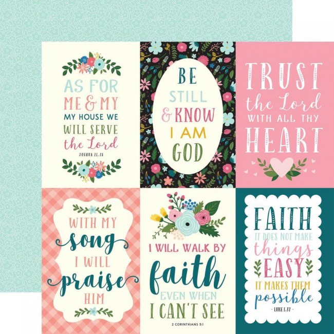 Papier Imprimé Recto-verso Have Faith 4x6 Journaling Cards