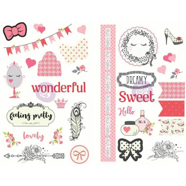 Chipboard Julie Nutting - Words & Icons