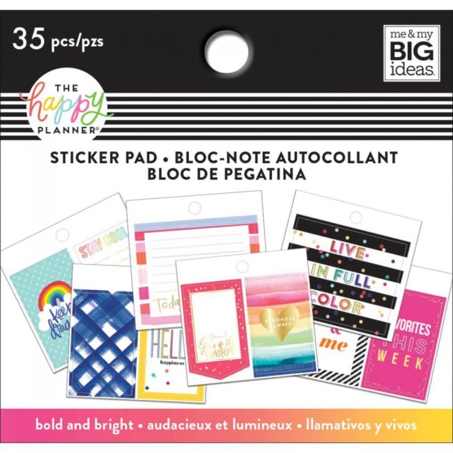 Carnet d'autocollants Tiny Bold And Bright