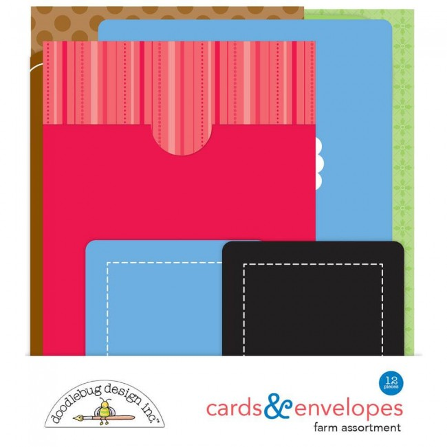 Cartes et Enveloppes Down On The Farm