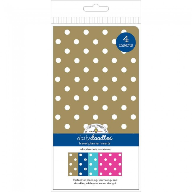 Lot de Cahiers pour Traveler's Notebook Adorable Dots Quadrillé et Pointillé