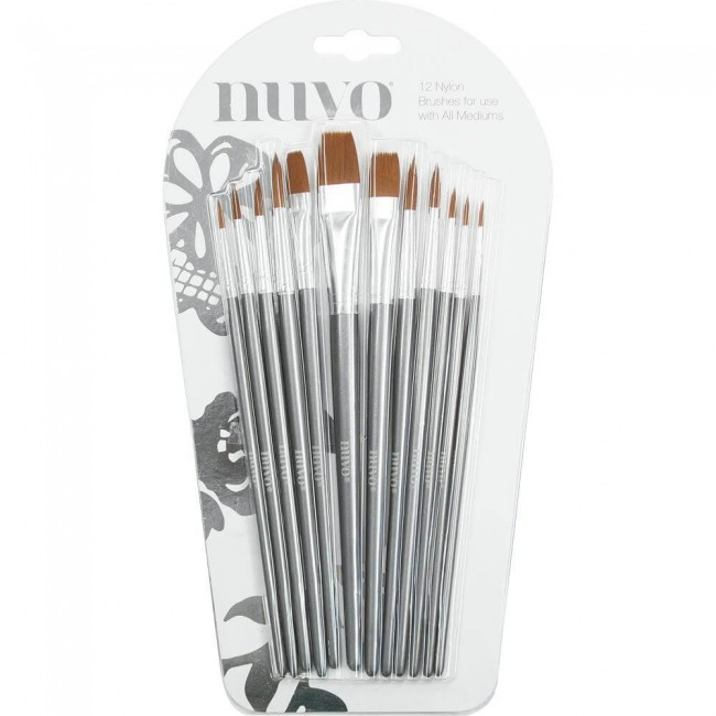 Pinceau Nuvo Paint Brushes 12/Pkg