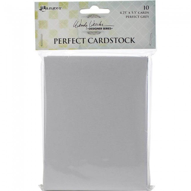 Cartes Perfect Cardstock Wendy Vecchi Grey