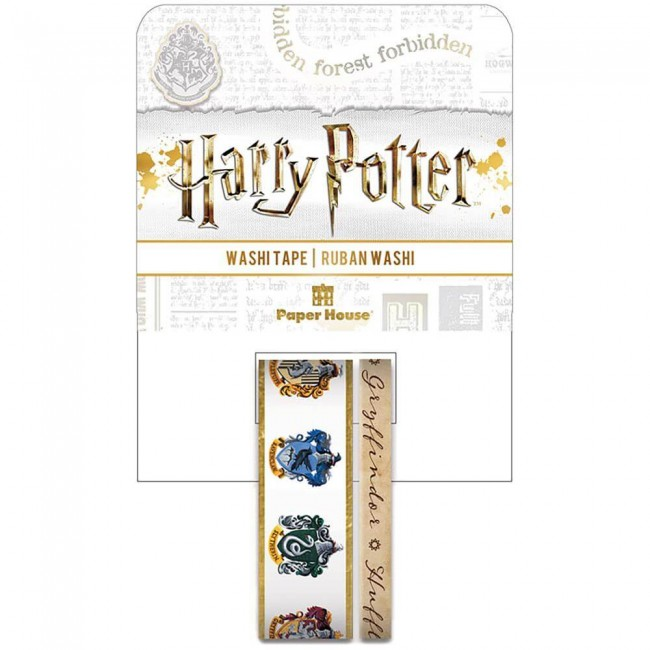 Lot de Washi Tape Harry Potter House Crests