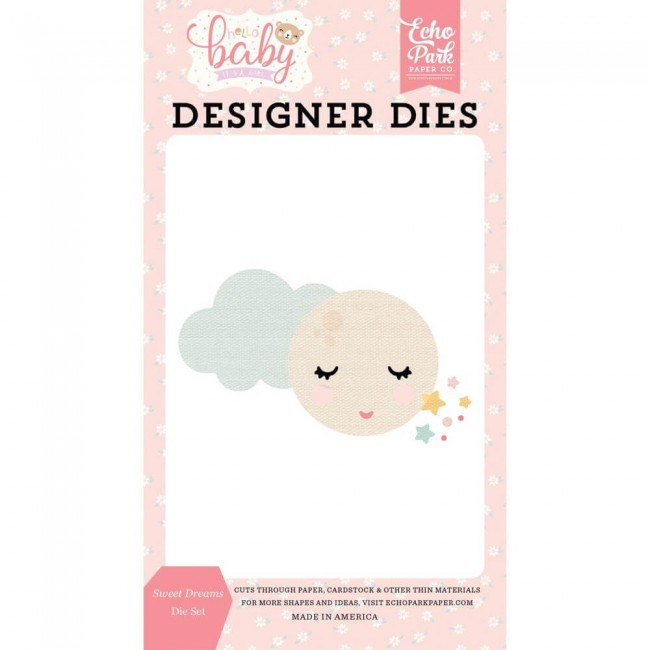 Matrice de Découpe Hello Baby Girl Sweet Dreams