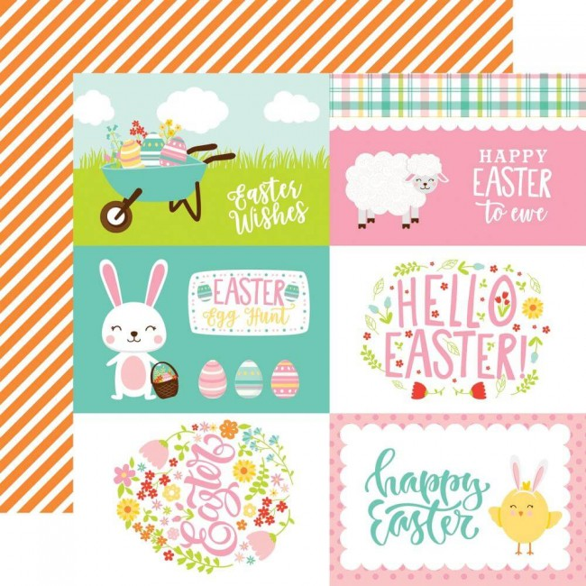 "Papier Imprimé Recto-verso 12x12 Easter Wishes 4""X6"" Journaling Cards"