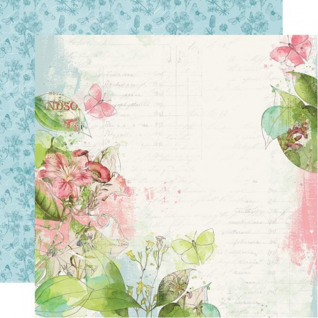 Papier Imprimé Recto-verso 12x12 Simple Vintage Botanicals Shine Bright